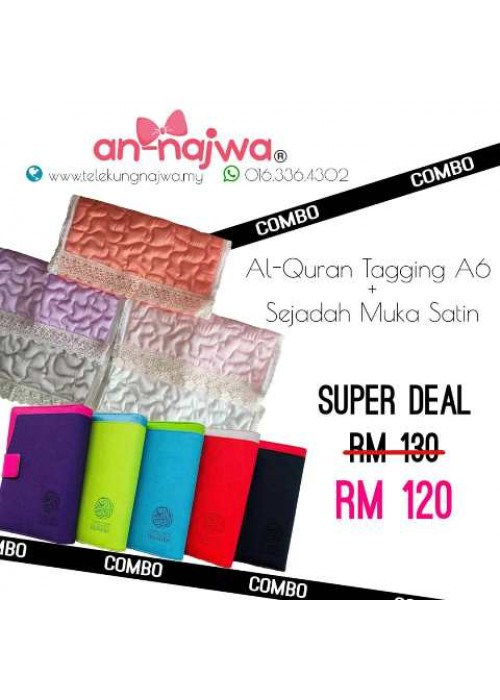 SUPER DEALS AL-QURAN TAGGING A6 + SEJADAH MUKA SATIN